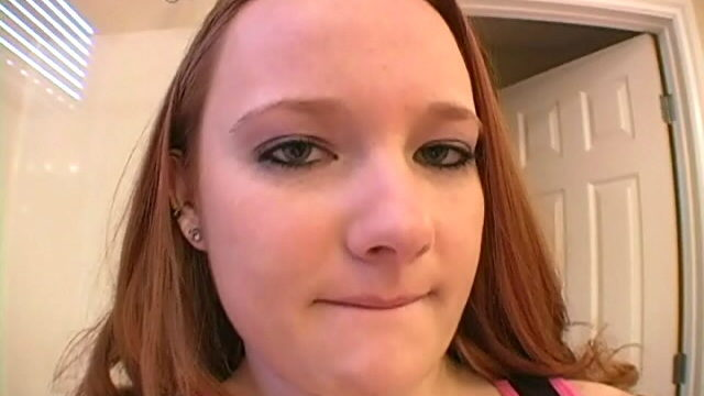 Blue Eyed Redhead Teen Halo Displaying Her Pierced Nipples