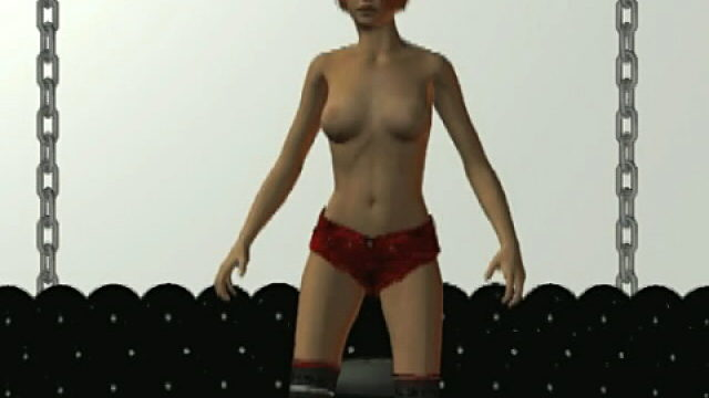 Excited Redhead 3d Tremendous Mannequin Becky Dancing Erotically For You