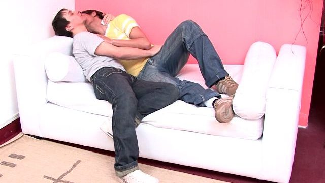 Candy Newbie Gays Julian And Moxi Kissing Their Our Bodies At The Sofa