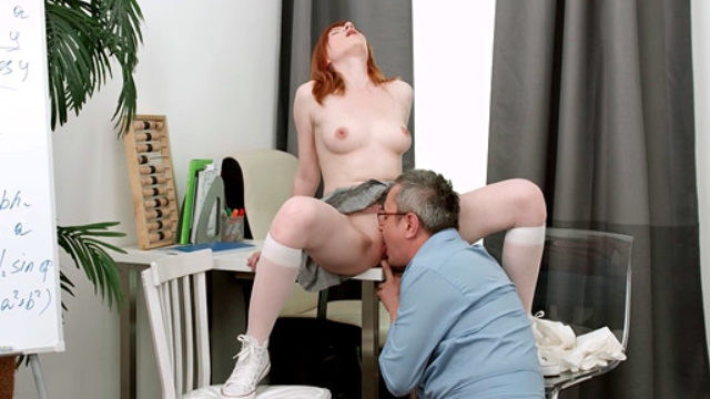 Nubile Hoe Will Get Down And Messy Together With Her Senior Tutor