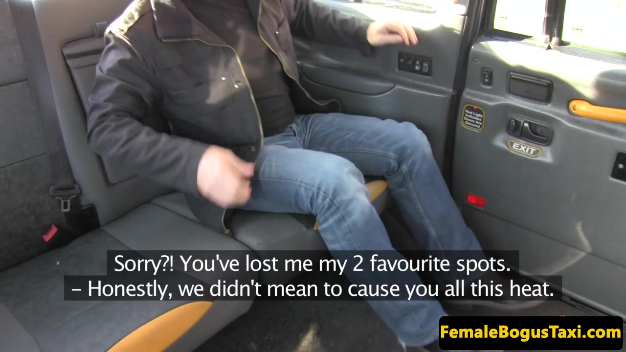Stockinged Cabbie Booty-fucked On Backseat