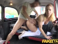 Faux Cab Nurse In Killer Undergarments Has Automobile Hook-up