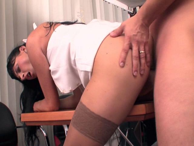 Attractive Place Of Business Honey Jessica Sanchez Getting Smooth Vagina Banged Rear End At The Table