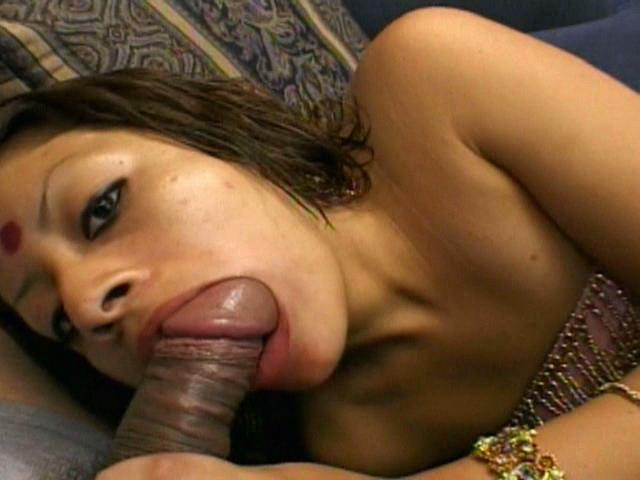 Gorgeous Indian Gal Indra Gargling A Massive Furry Rod With Passion