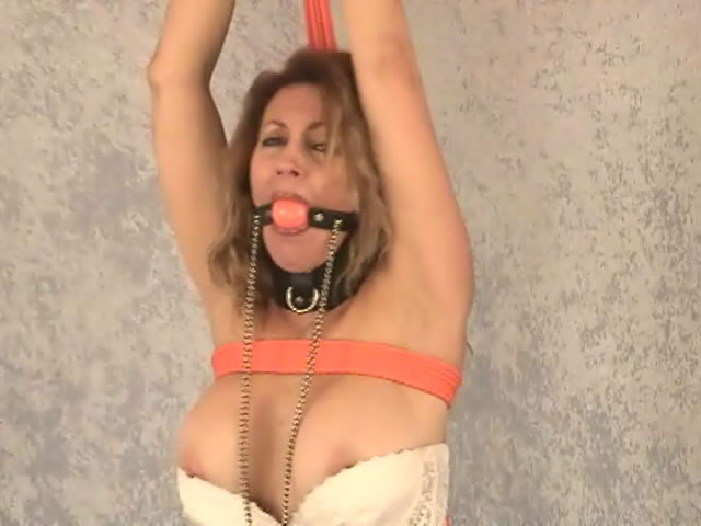 Yam-sized Jugged Victim In Stunning Milky Harness Autumn Will Get Strapped Up And Ball-gagged