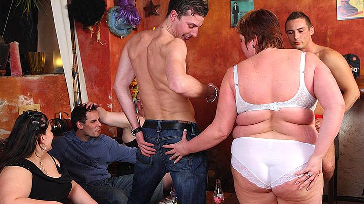 Bbw Gang Gig With Joy Orgy