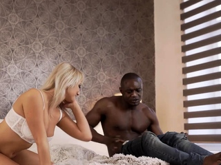 Black4k. Playing Ash-blonde Dame Is Boned By Means Of Crafty Ebony