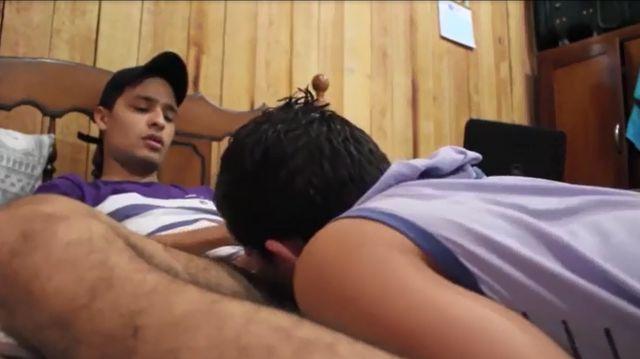 Queer Brazilian Guy Deep Throating Ambidextrous Latino